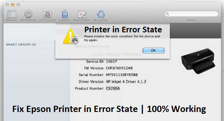 Fix Epson Printer in Error State