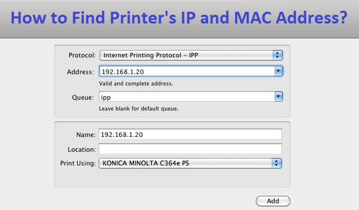 Find-Printer's-IP-and-MAC-Address