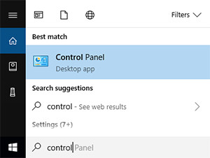 control-pannel-setting