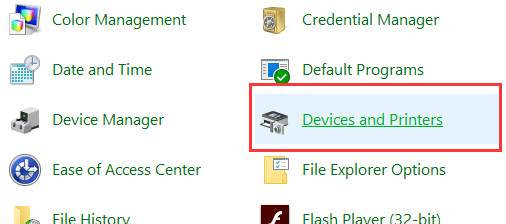 device-and-printer-setting