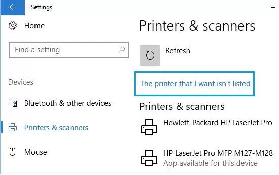The-printer-I-want-is-not-listed